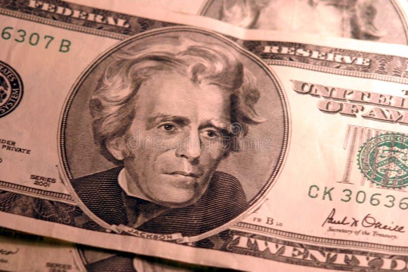 20 Billets D Un Dollar Image libre de droits
