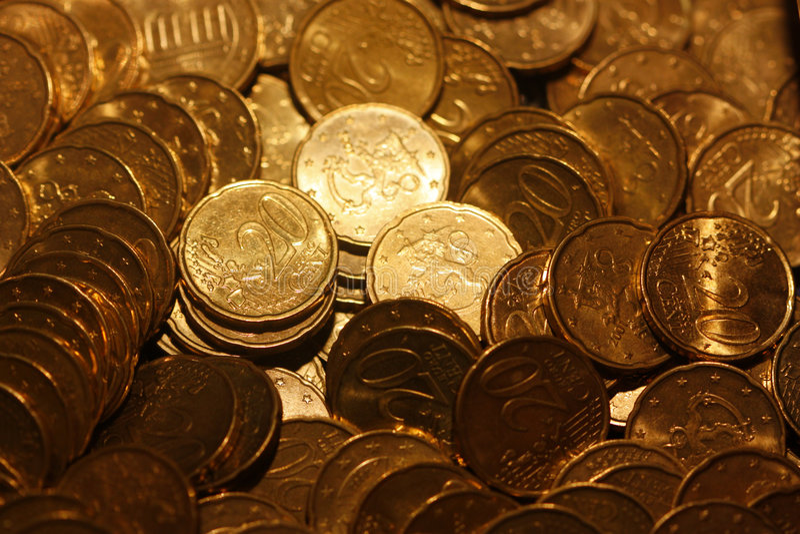 20 Centeuromünzen lizenzfreie stockfotos