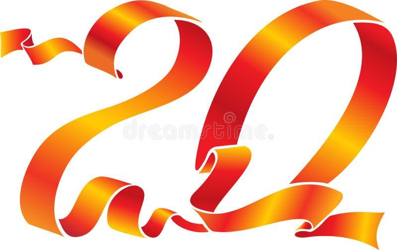 20 czerwoną wstążkę royalty ilustracja