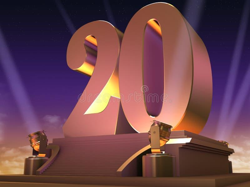 20 d'or - type de film illustration de vecteur