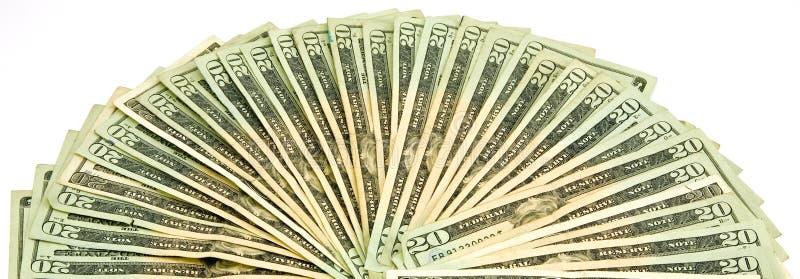 20 de Rekeningen van de Dollar van de V.S. royalty-vrije stock fotografie