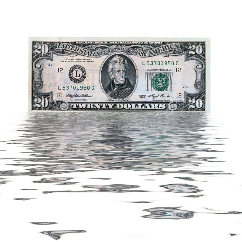20 de V.S.dollars royalty-vrije stock foto