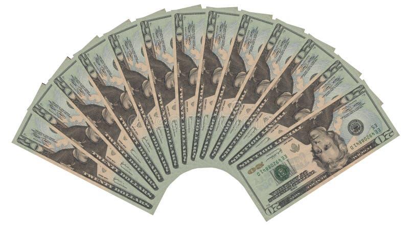 20 dollar royaltyfri foto