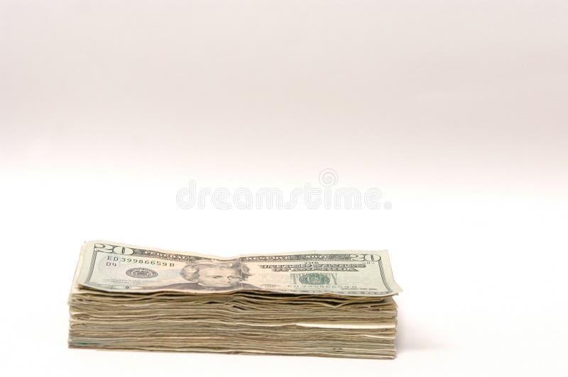 20 dollar pengar royaltyfria foton