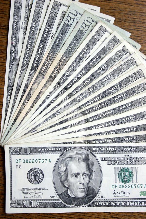 20 dollars, Jackson photo stock