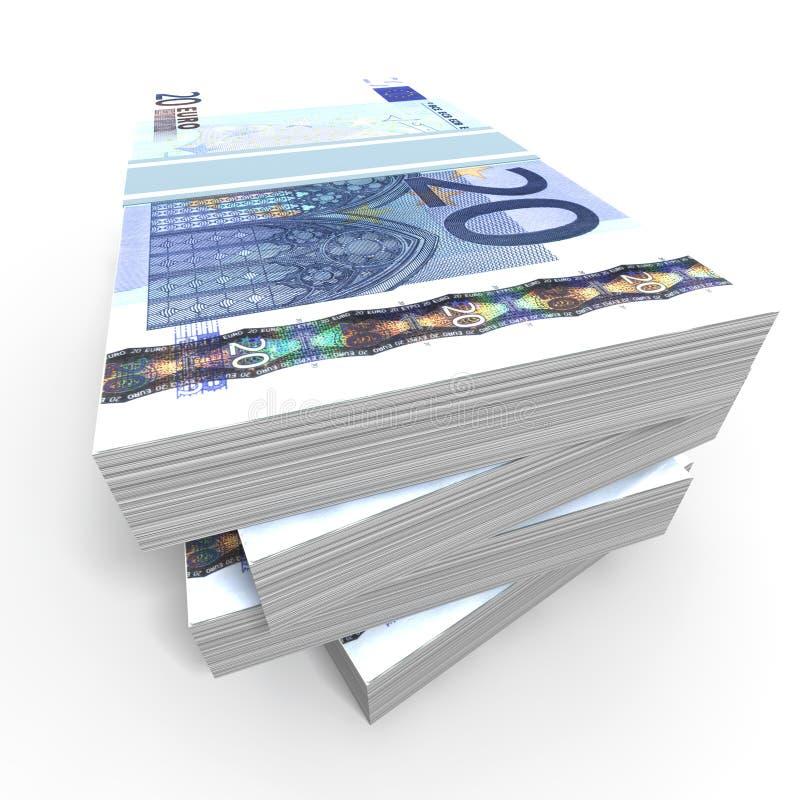 20 euro bankbiljetten stock foto