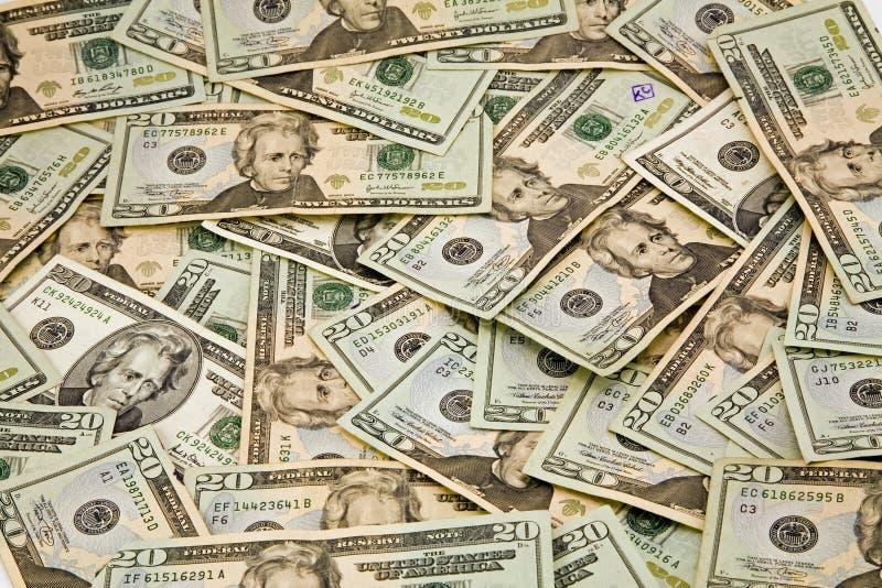 $20 fatture del dollaro immagine stock libera da diritti