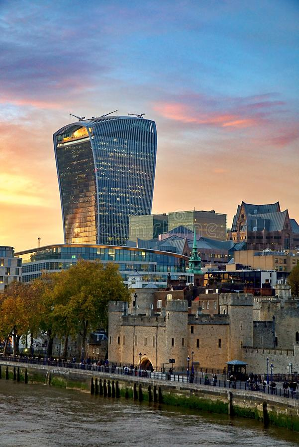Free 20 Fenchurch Street Walkie-Talkie Building - London, UK Royalty Free Stock Photography - 104691257
