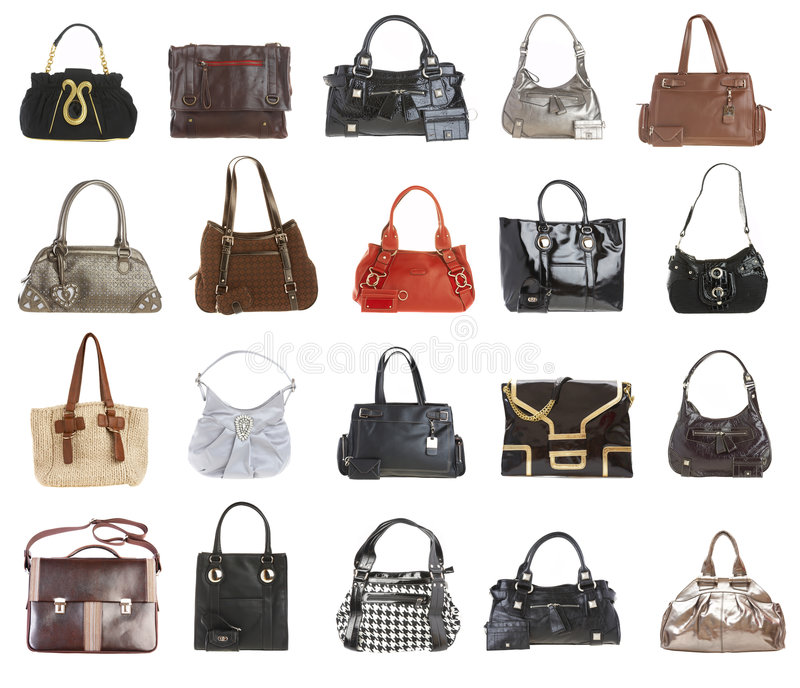 20 handbags stock image