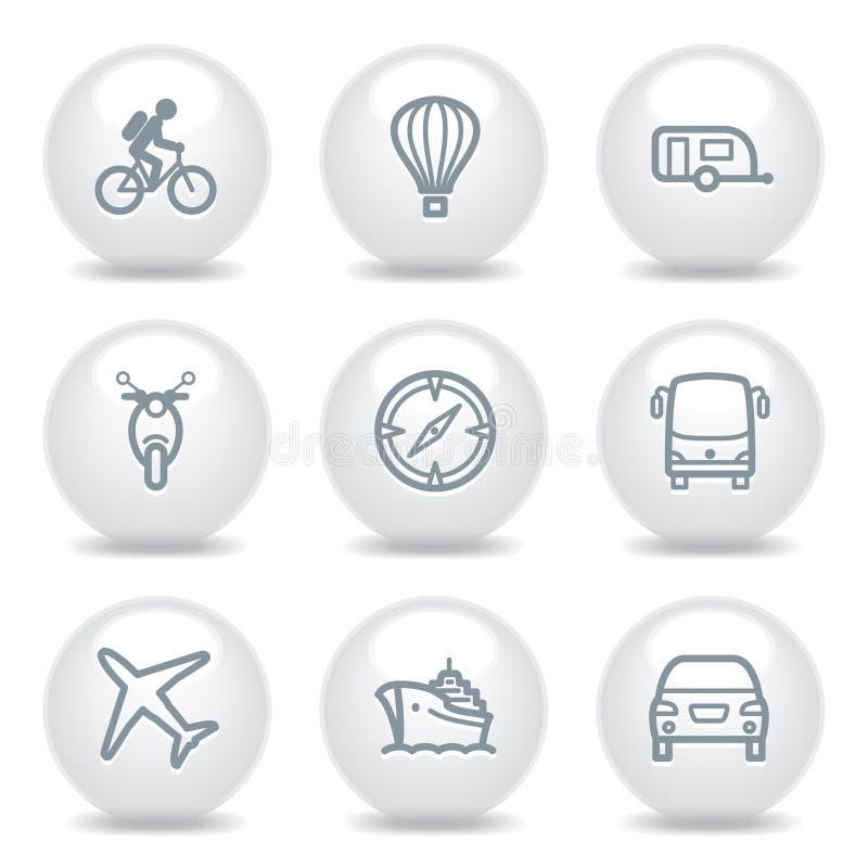 20 inställda gråa symboler stock illustrationer