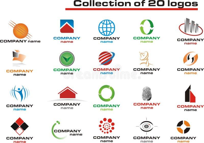 Download 20 Logos Set - vector logo stock vector. Illustration of colors - 8536548