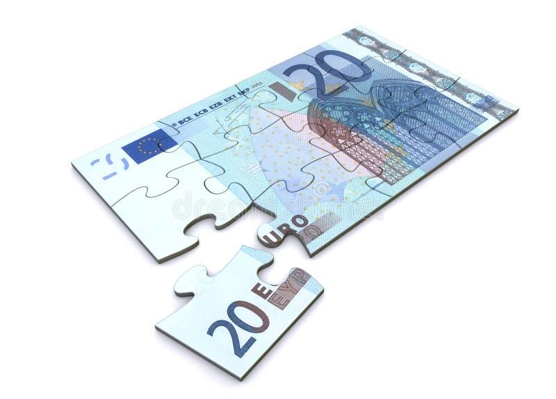 20 Nutowa Euro Łamigłówka royalty ilustracja