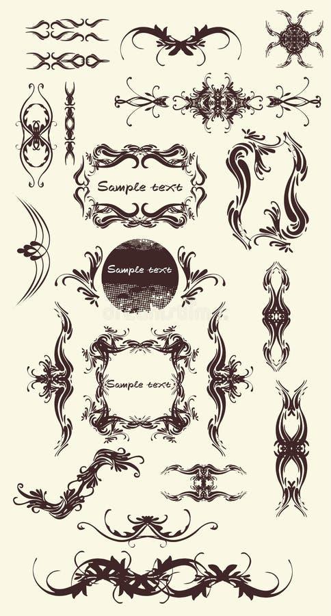 20 ornamentów ilustracji