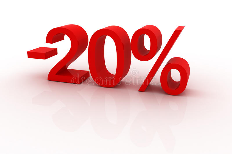 Download 20 percent discount stock illustration. Image of rate - 12391442