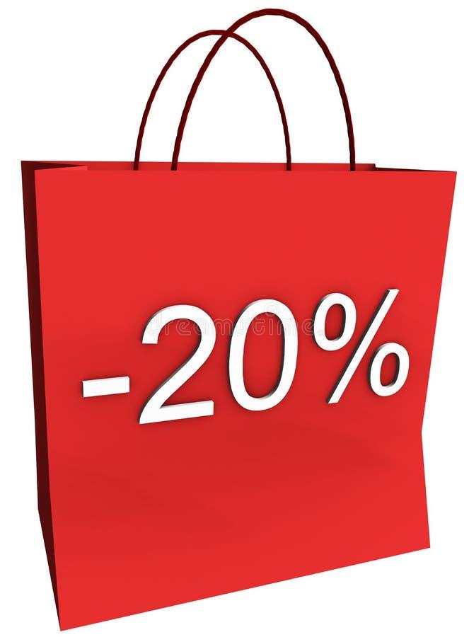 Download 20 Percent Off Shopping Bag Stock Illustration - Image: 7429102