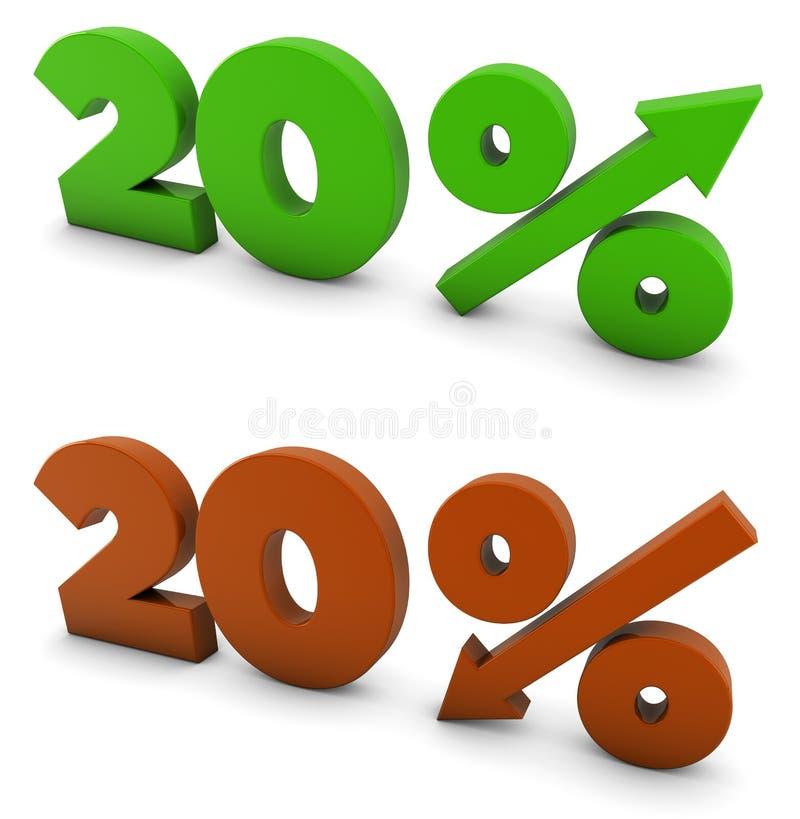 20 percenten vector illustratie