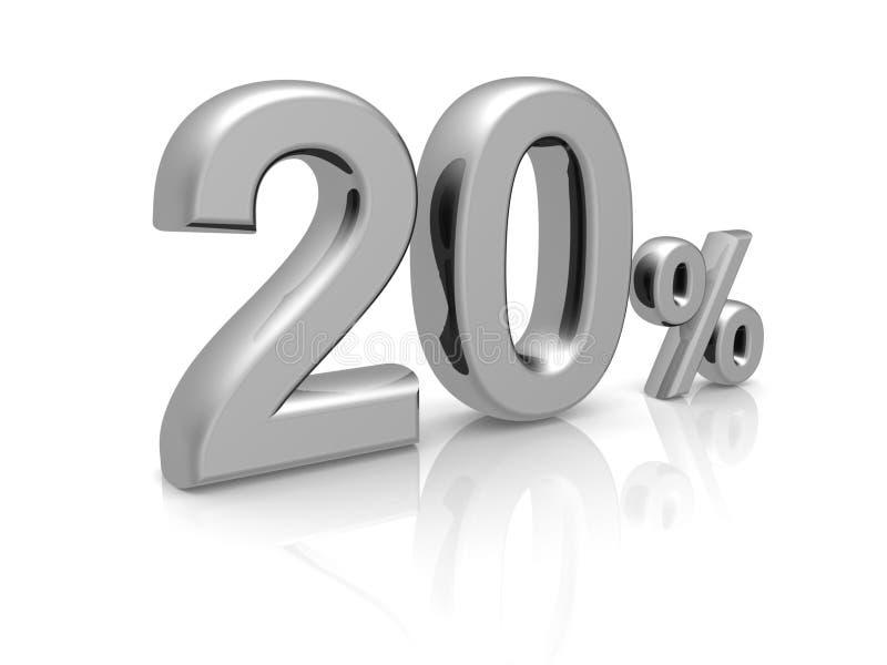 20 por cento de símbolo do disconto ilustração royalty free