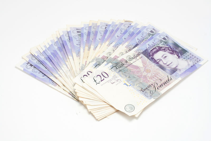 20 Pound Notes stock photography