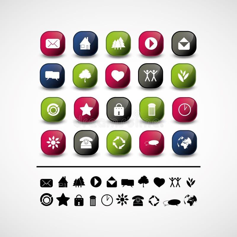 20 projekta elementów ikon ustawiają sieć royalty ilustracja