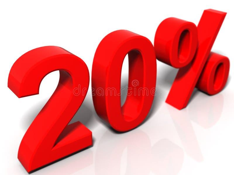 20 Prozent stock abbildung