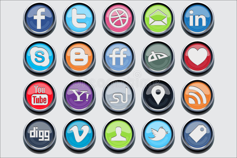 20 social media classic icons. For your needs