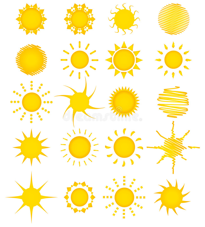 Download 20 summer sun collection stock vector. Image of holiday - 8960769