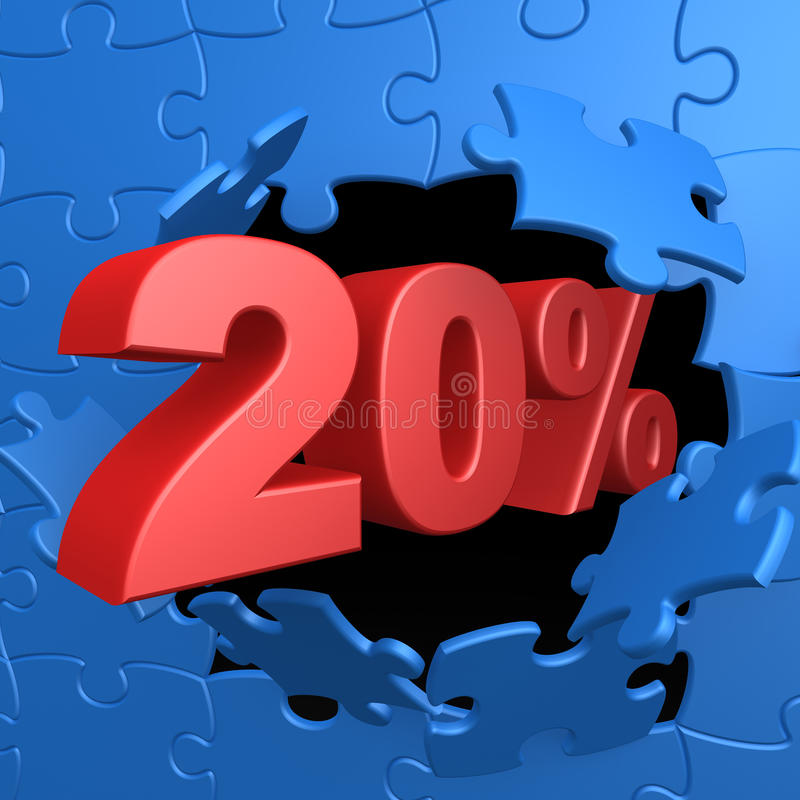 20% weg vektor abbildung