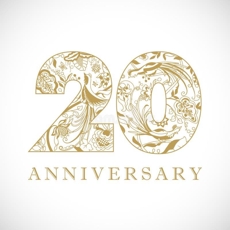 Free 20 Years Anniversary Logo Stock Photos - 160923143