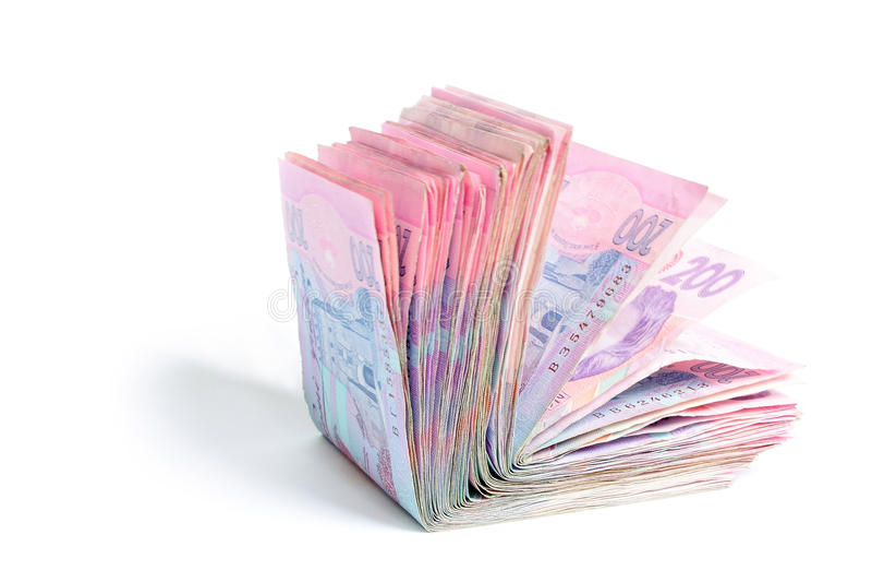 200 banknotów uah fotografia royalty free