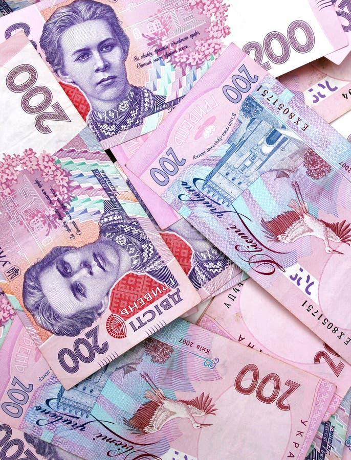 200 Oekraïense hryvnia stock afbeeldingen