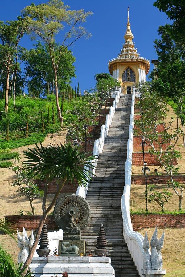The 200 rungs of Buddha. Pattaya. Thailand stock photography