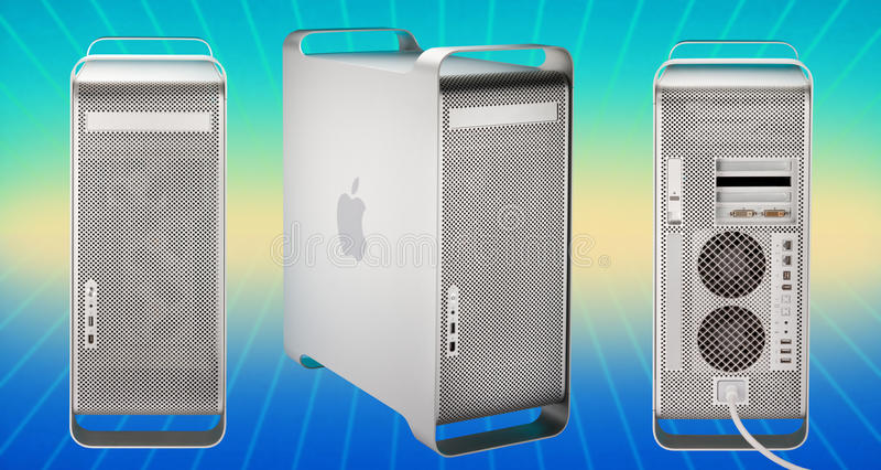 2003 g5 2006 komputer apple mac władza royalty ilustracja