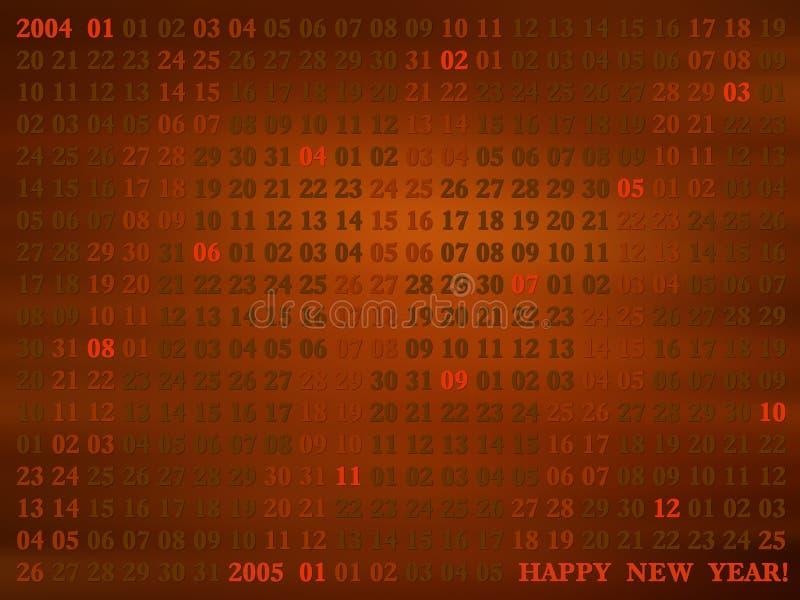 2004 yr. artistical calendar stock photography