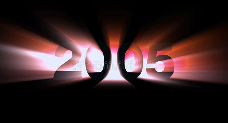 2005 год иллюстрация вектора
