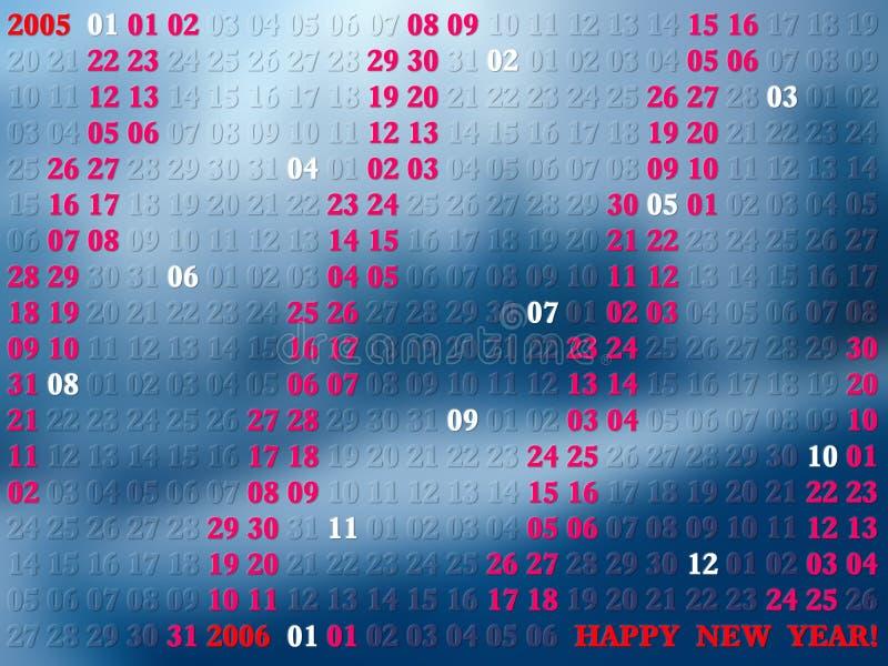 2005 художнических календарных год бесплатная иллюстрация