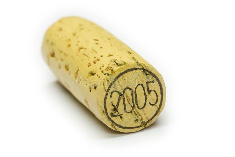 2005 Wein-Korken lizenzfreie stockfotografie