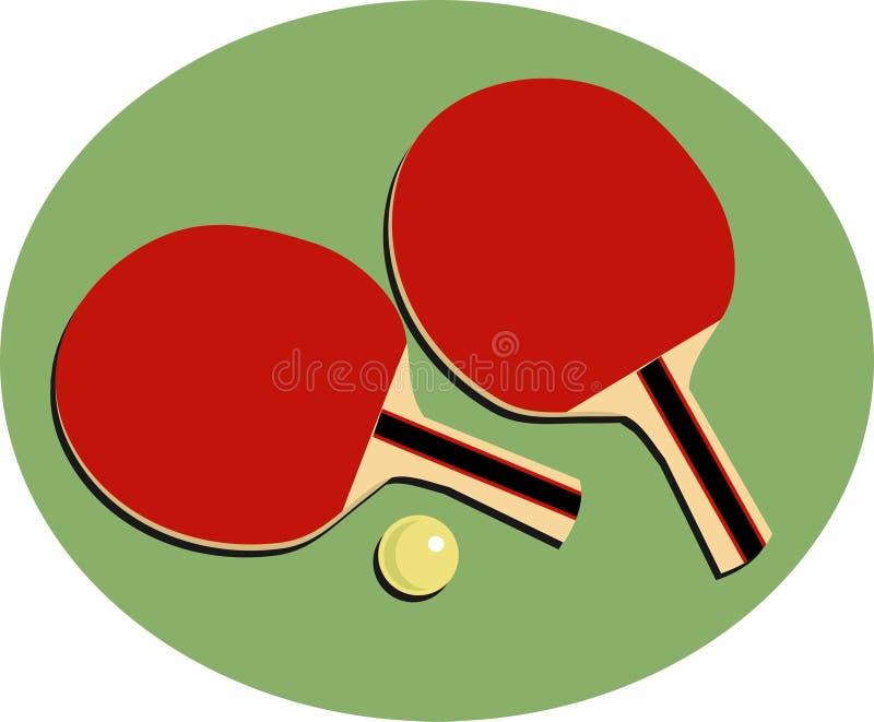 乒乓球 向量例证