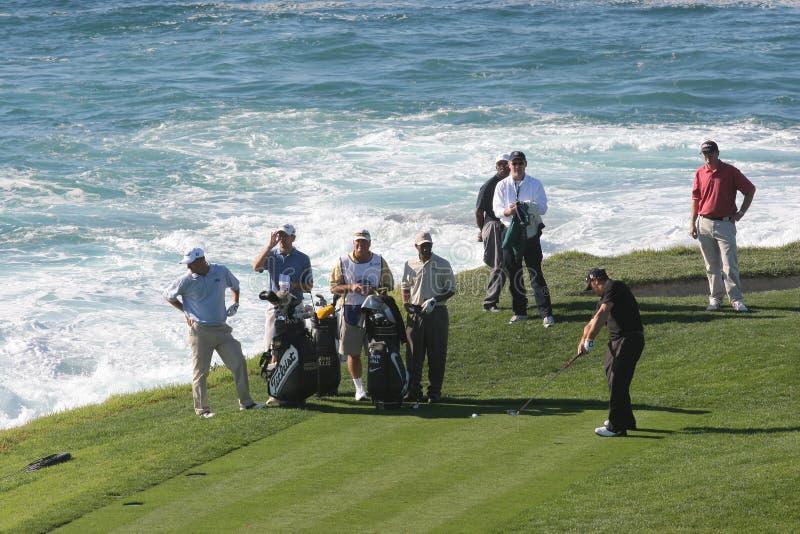 2006个海滩高尔夫球小卵石pga浏览 库存照片