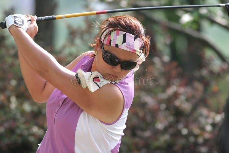2006年克里斯蒂娜高尔夫球金lpga施托克伯雷杰浏览 库存图片