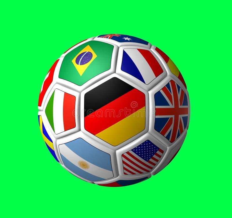 2006年球足球 向量例证