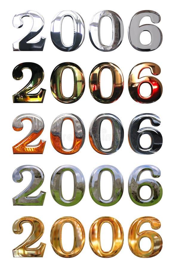 2006 år stock illustrationer