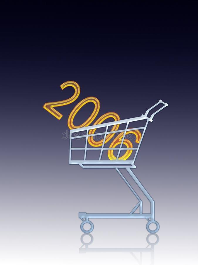 2006 años a comprar ilustración del vector