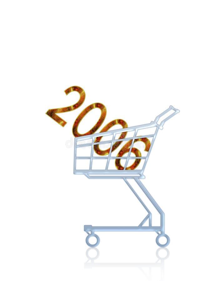 2006 anos a comprar ilustração stock