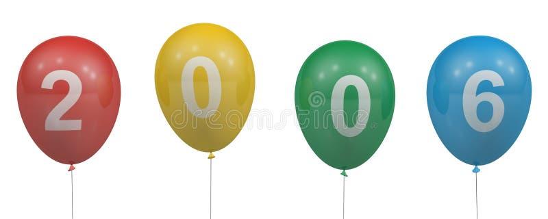2006 ballons illustration libre de droits