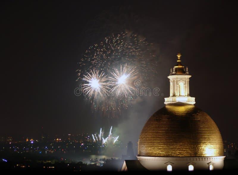 2006 bostonów czwarty Lipowie fajerwerki obrazy stock