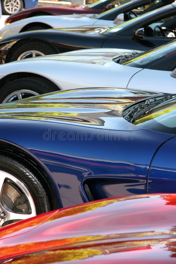 2006 Corvettes royalty free stock images