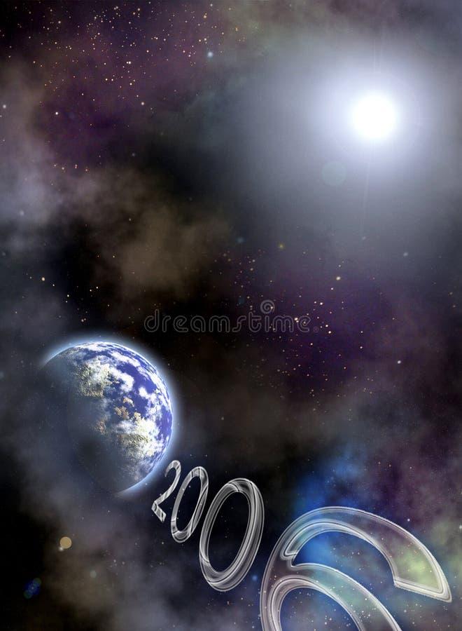 2006 Jahr kommen stock abbildung