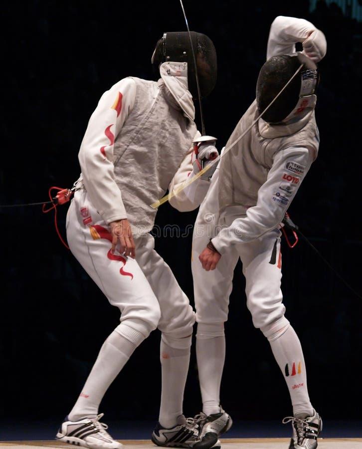 2006 mistrzostwa joppich lei sheng szermierczy świat fotografia stock