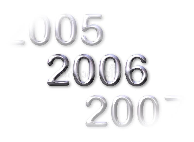 2006 nowego roku ilustracja wektor