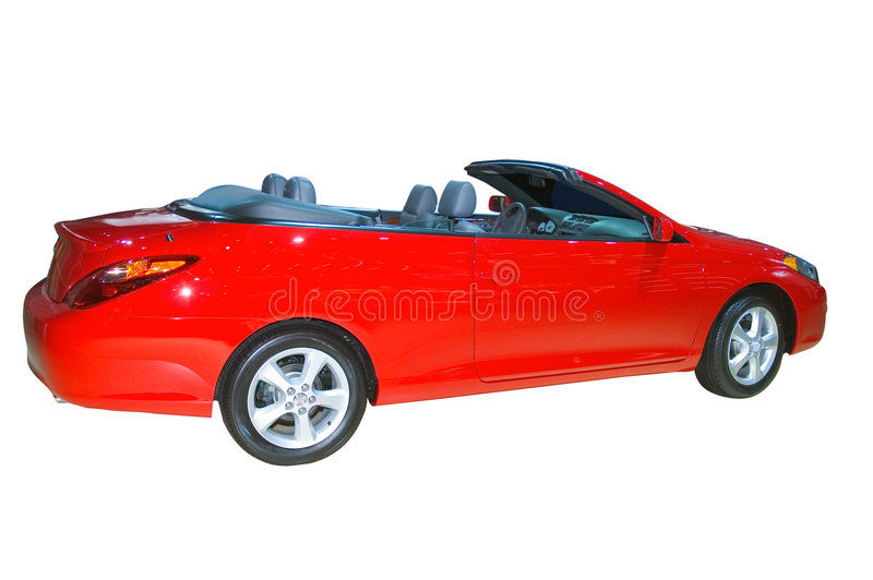 2006 Toyota Camry Solara. Isolated on a white background with clipping path included. Many more car photos in my gallery stock photos